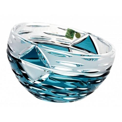 Insalatiera Mirage, cristallo, colore azzurro, diametro 180 mm