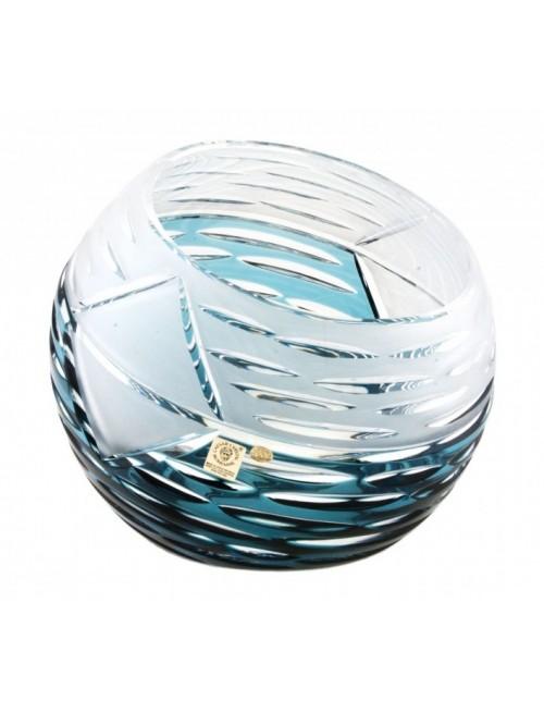 Vaso Mirage, cristallo, colore azzurro, altezza 200 mm