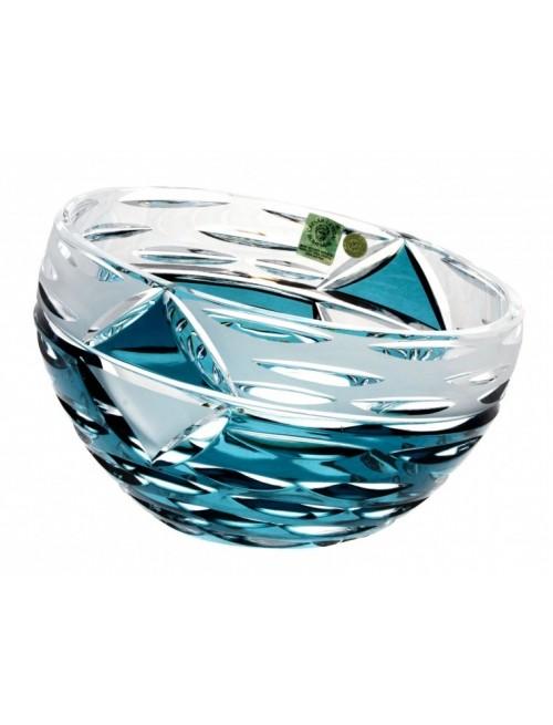 Insalatiera Mirage, cristallo, colore azzurro, diametro 230 mm