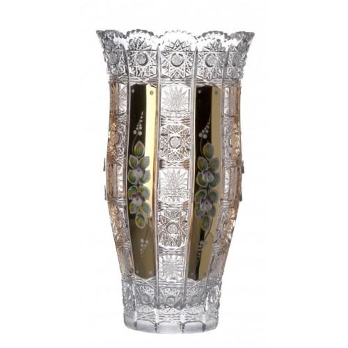 Vaso 500PK II, cristallo trasparente dipinto oro, altezza 305 mm
