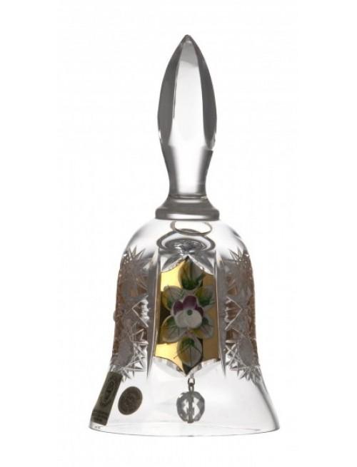 Campanella 500PK, cristallo trasparente dipinto oro, altezza 126 mm