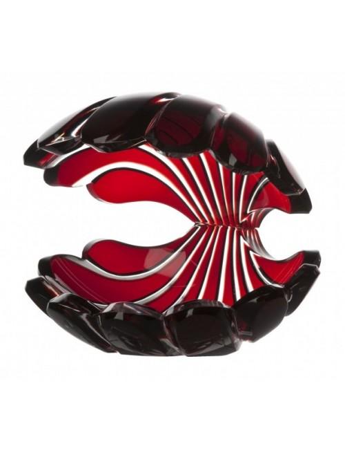 Conchiglia, cristallo, colore rosso, altezza 140 mm