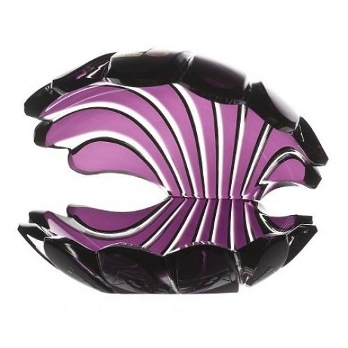 Conchiglia, cristallo, colore viola, altezza 140 mm