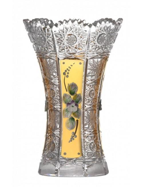Vaso 500PK, cristallo trasparente dipinto oro I, altezza 180 mm