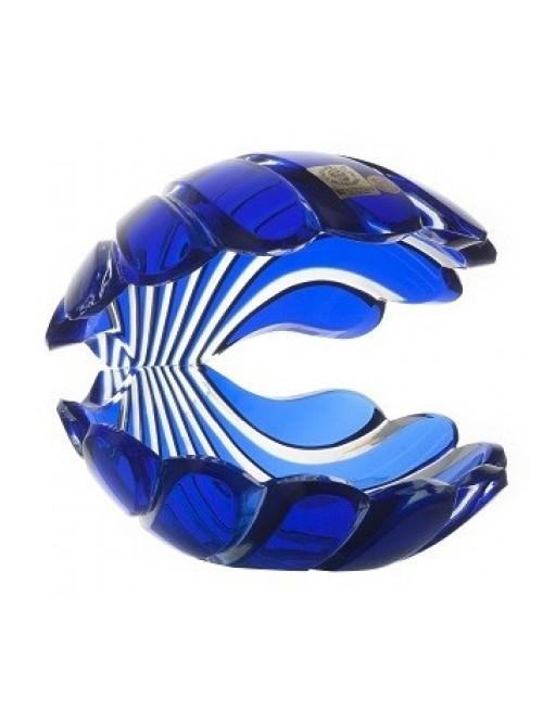 Conchiglia, cristallo, colore blu, altezza 140 mm