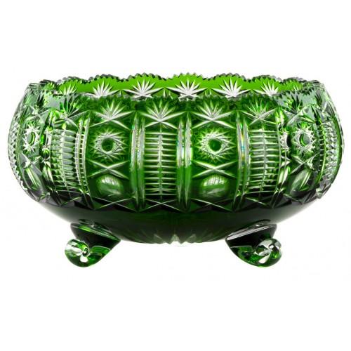 Insalatiera Kendy, cristallo, colore verde, diametro 280 mm