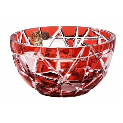 Ciotola Mars, cristallo, colore rosso, diametro 116 mm