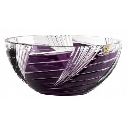 Insalatiera Whirl, cristallo, colore viola, diametro 250 mm