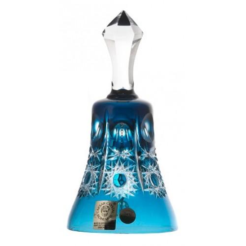 Campanella Petra, cristallo, colore azzurro, altezza 126 mm