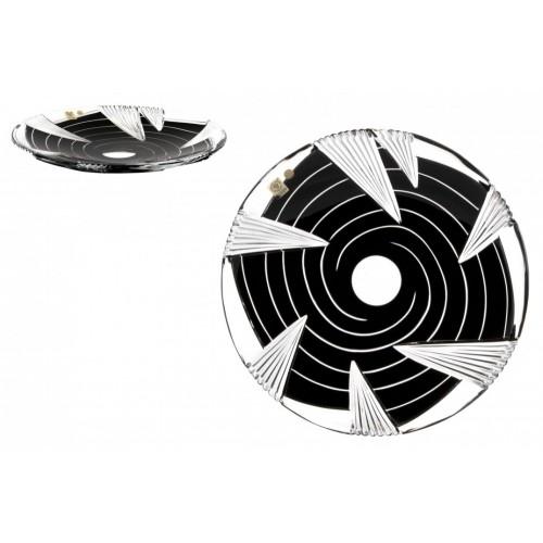 Piatto Whirl, cristallo, colore nero, diametro 300 mm