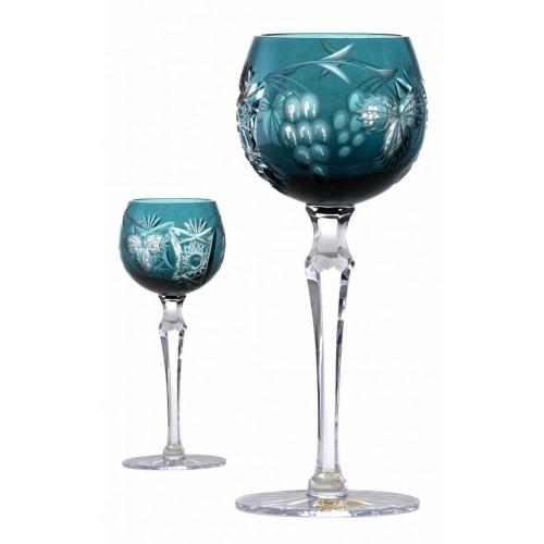 Bicchiere Nacht vine, cristallo, colore azzurro, volume 170 ml