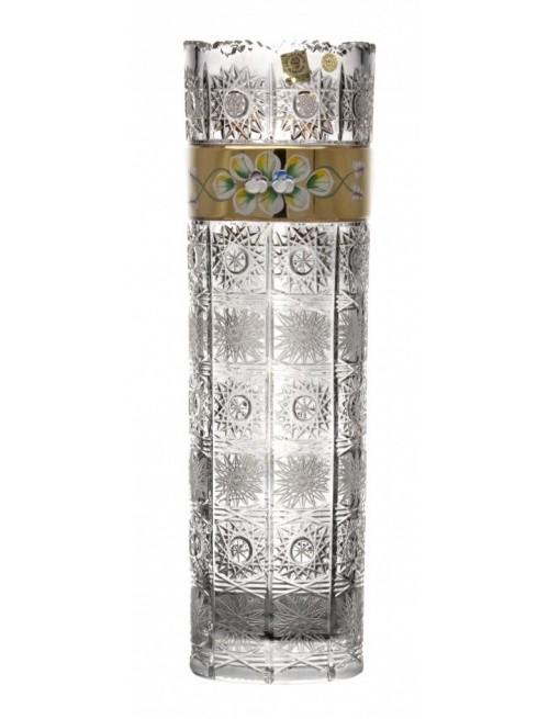 Vaso 500PK, cristallo trasparente dipinto oro, altezza 360 mm