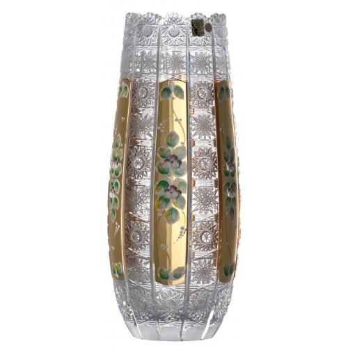 Vaso 500PK, cristallo trasparente dipinto oro, altezza 350 mm