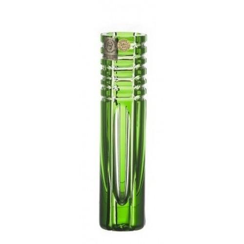 Vaso Nora, cristallo, colore verde, altezza 155 mm
