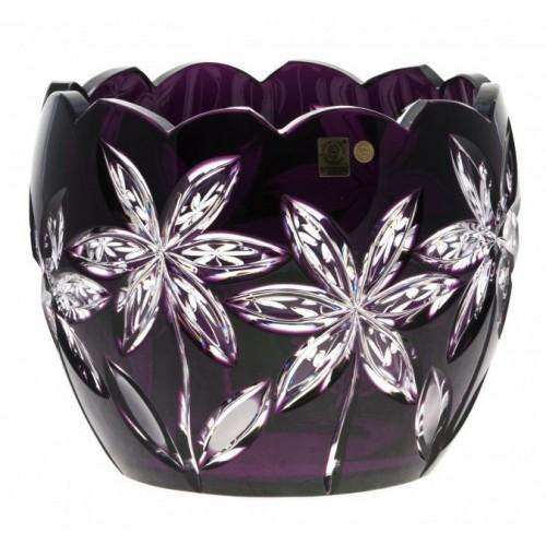 Insalatiera Linda, cristallo, colore viola, diametro 240 mm