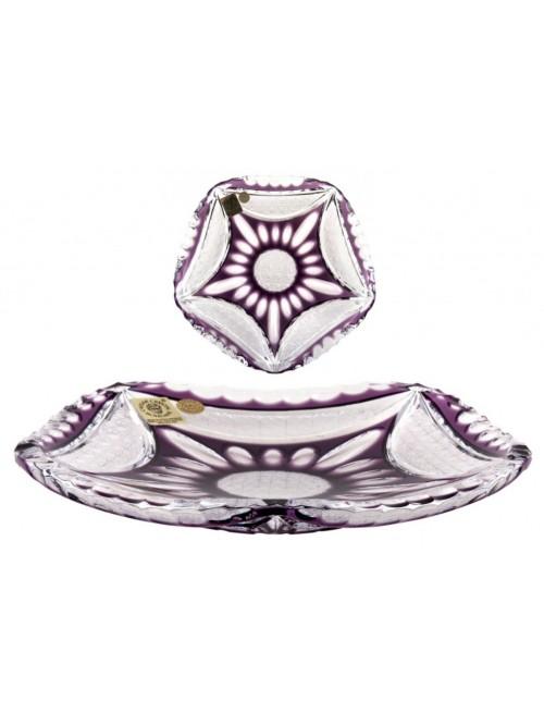 Piatto Ingrid, cristallo, colore viola, diametro 180 mm