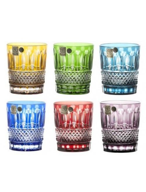 Set Bicchieri Whisky Tomy, cristallo, multicolore