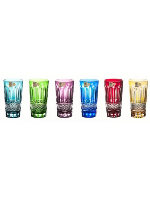 Set bicchieri Tomy 6x, cristallo, multicolore, volume 320 ml