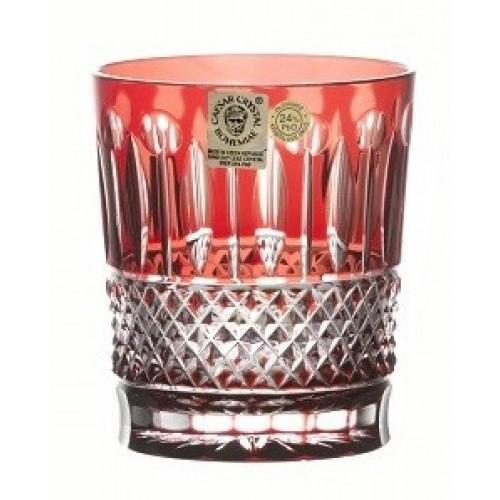 Bicchiere Tomy, cristallo, colore rosso, volume 290 ml