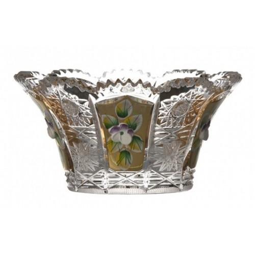 Ciotola 500PK, cristallo trasparente dipinto oro, diametro 112 mm