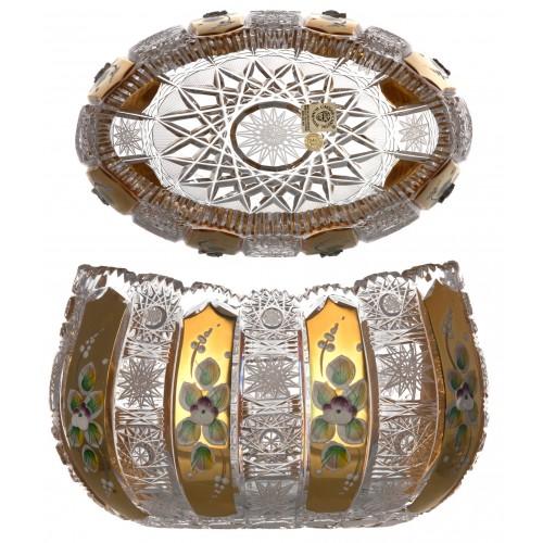 Insalatiera 500PK, cristallo trasparente dipinto oro, diametro 205 mm