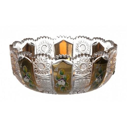Ciotola 500PK, cristallo trasparente dipinto oro I, diametro 180 mm