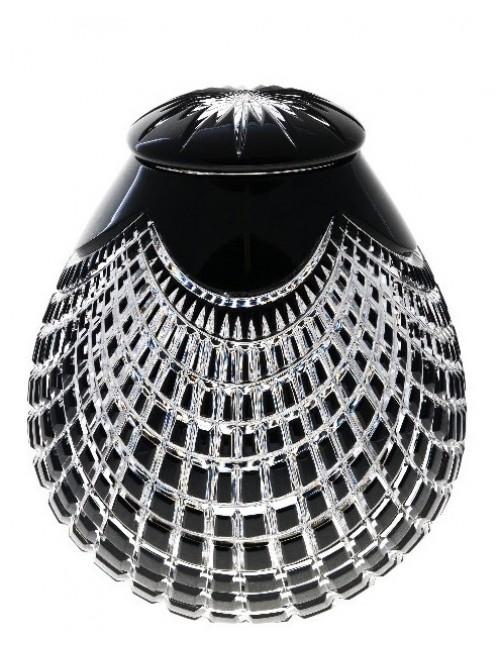 Urna Quadrus, cristallo, colore nero, altezza 290 mm
