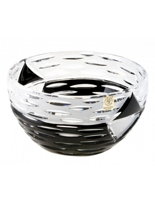Insalatiera Mirage, cristallo, colore nero, diametro 180 mm