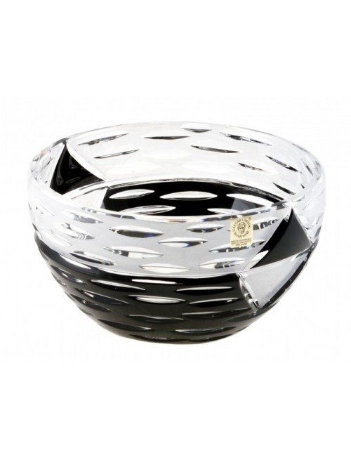 Insalatiera Mirage, cristallo, colore nero, diametro 230 mm