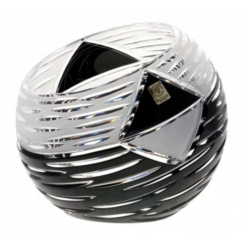 Vaso Mirage, cristallo, colore nero, altezza 200 mm