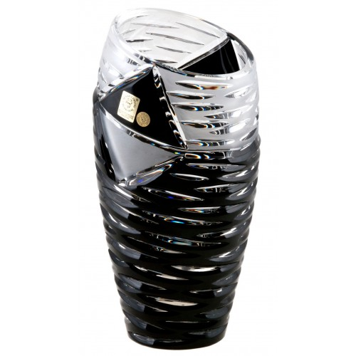 Vaso Mirage, cristallo, colore nero, altezza 180 mm