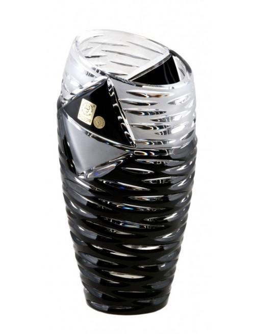 Vaso Mirage, cristallo, colore nero, altezza 230 mm