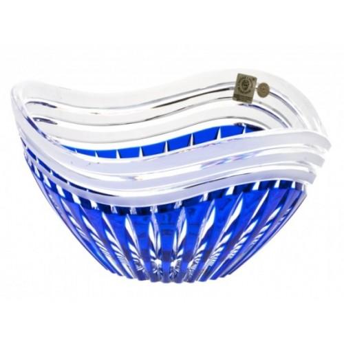 Insalatiera Dune, cristallo, colore blu, diametro 210 mm