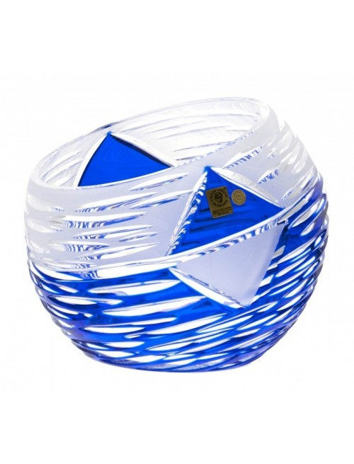 Vaso Mirage, cristallo, colore blu, altezza 200 mm