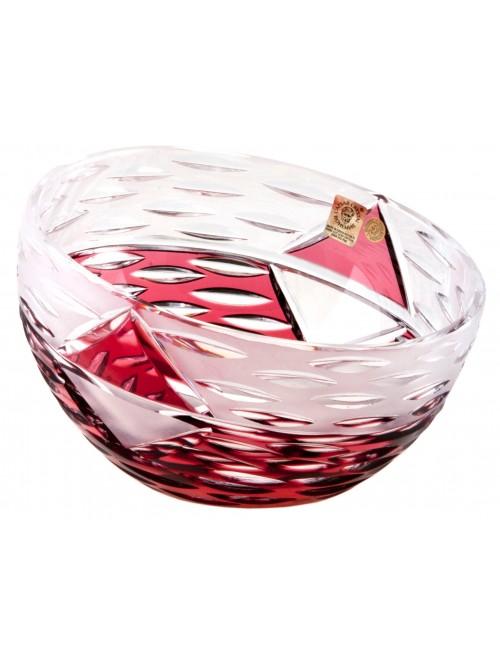 Ciotola Mirage, cristallo, colore rosso, diametro 130 mm