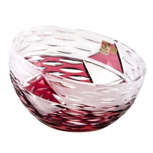Insalatiera Mirage, cristallo, colore rosso, diametro 230 mm
