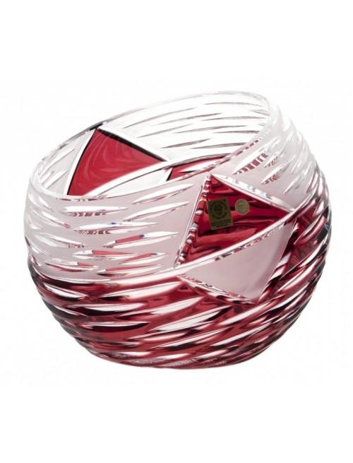 Vaso Mirage, cristallo, colore rosso, altezza 200 mm