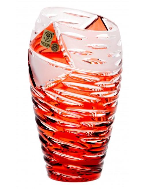 Vaso Mirage, cristallo, colore rosso, altezza 230 mm