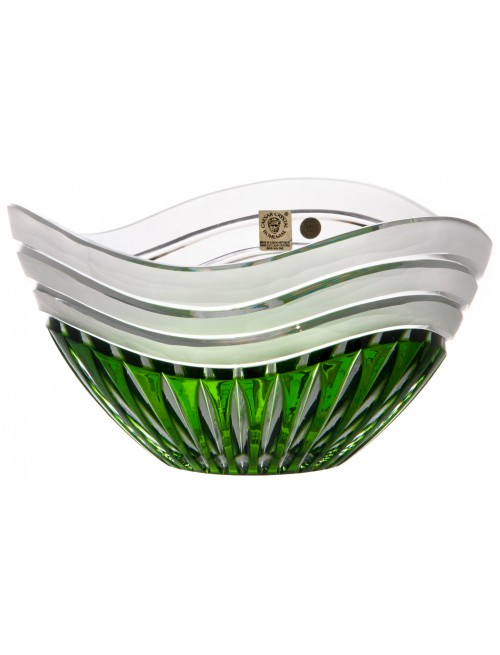 Insalatiera Dune, cristallo, colore verde, diametro 210 mm