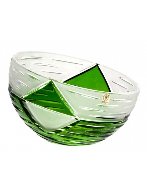 Insalatiera Mirage, cristallo, colore verde, diametro 180 mm