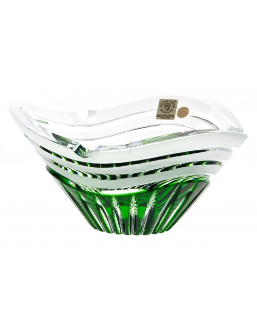 Portacenere Dune, cristallo, colore verde, diametro 180 mm