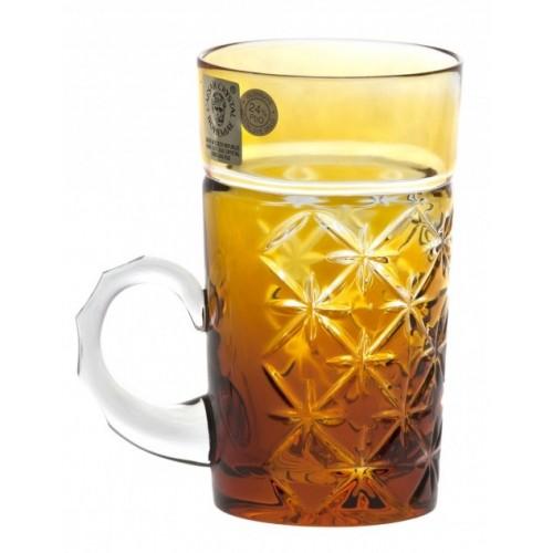 Tazza Charles, cristallo, colore ambra, volume 100 ml