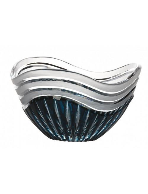 Insalatiera Dune, cristallo, colore azzurro, diametro 210 mm