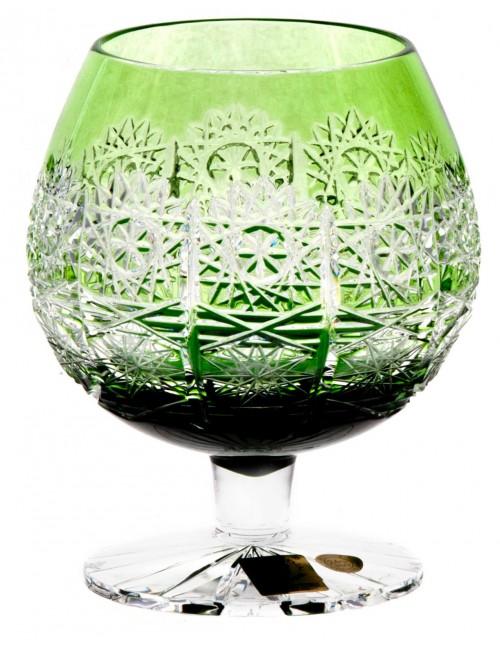 Bicchiere Brandy Paula, cristallo, colore verde, volume 300 ml
