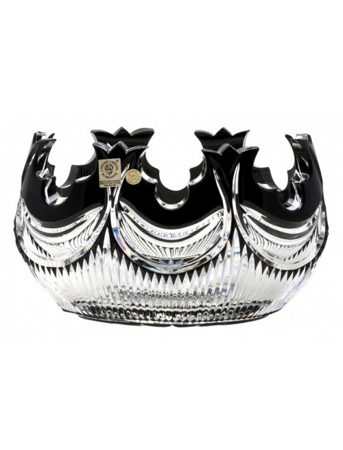 Insalatiera Diadem, cristallo, colore nero, diametro 205 mm