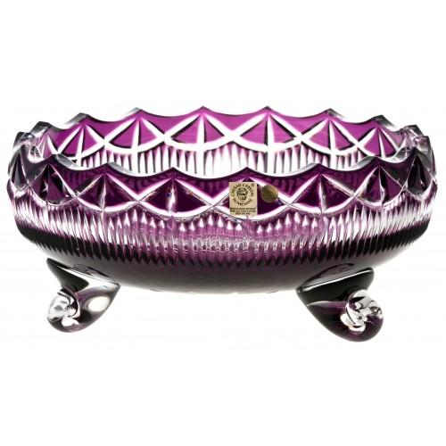 Insalatiera Rozeta, cristallo, colore viola, diametro 255 mm