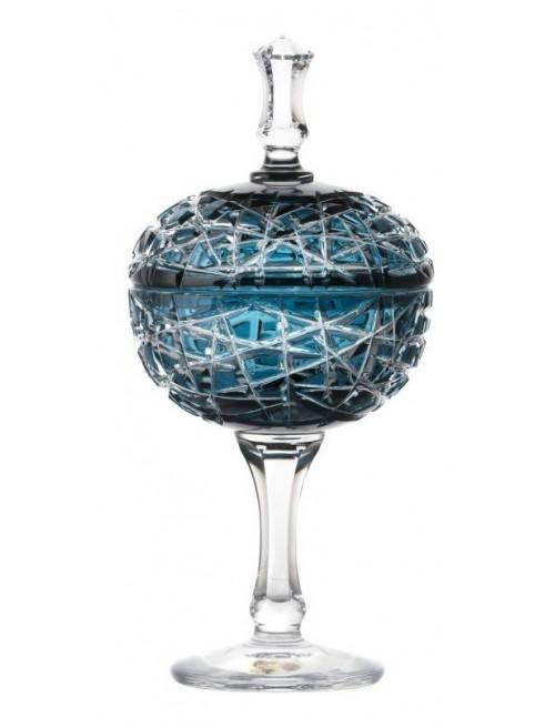Coppa Taiga, cristallo, colore azzurro, altezza 315 mm