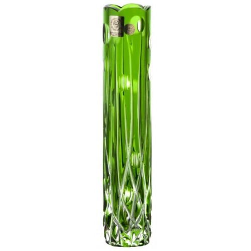 Vaso Heyday, cristallo, colore verde, altezza 205 mm