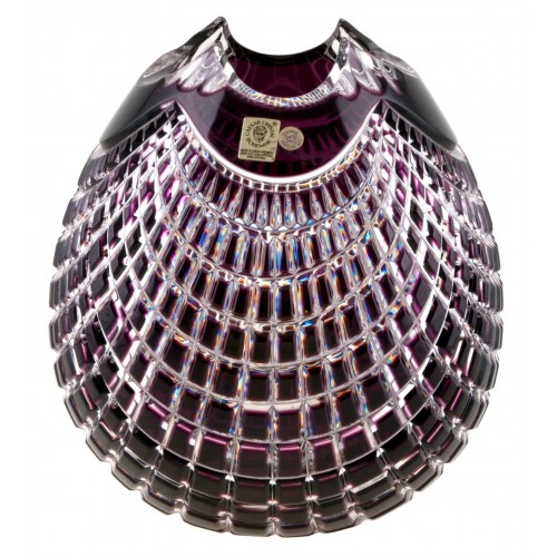 Vaso Quadrus, cristallo, colore viola, altezza 210 mm