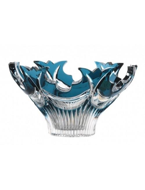 Vaso Diadem, cristallo, colore azzurro, diametro 165 mm